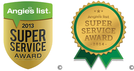 Angie's List 2013 & 2014 Super Service Awards